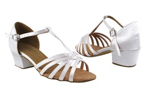 "1612 White Satin_Same as 16612 without Mesh with 1.5"" Medium Heel in the photo"