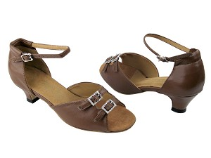 "1620 133 Coffee Brown Leather with 1.3"" Heel in the photo"