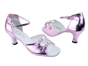 "1620 150 Purple Leather with 2.5"" Low heel in the photo"