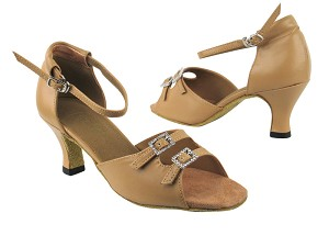 "1620 157 Beige Brown Leather with 2.5"" low heel in the photo"