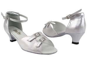 "1620 259 Silver Satin with 1.3"" Heel in the photo"