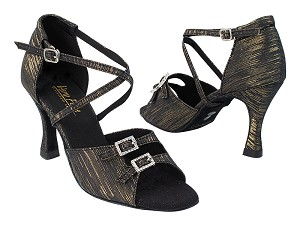 "1625 124 Black_Gold Stripe with 389_3"" Slim Flare Heel in the photo"