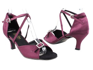"1636 111 Purple Satin with 2.75"" Heel in the photo"