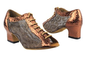 "1643 206 Ultra Copper_202 Mesh with 2"" Thick Cuban Heel in the photo"