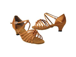 "1650 236 Dark Tan Satin with 1.3"" Cuban heel in the photo"