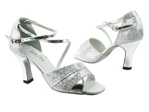 "1659 107 Silver Scale_Silver Leather with 3"" heel in the photo"