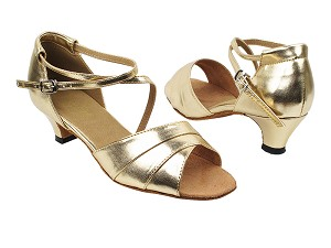 "1659 209 Flesh Gold PU with 1.3"" Cuban Heel in the photo"