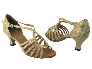 "1661 173 Light Gold Scale with 2.5"" Low Heel in the photo"