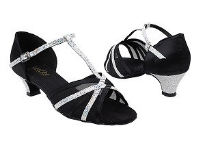 16612 38 Black Satin_107 Silver Scale_Black Mesh