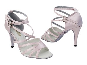 "1662B 233 Light Pink Satin with 3.5"" Stiletto Heel (397) in the photo"