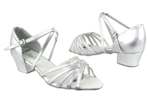 "1670C 151 Soft Silver PU with 1.5"" Medium Heel in the photo"