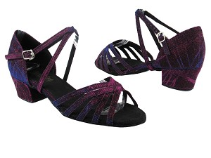 "1670C 155 Purple Illusion with 1.5"" medium heel in the photo"