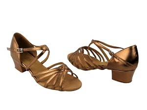 "1670C 171 Dark Tan Gold with 1.5"" Medium Heel in the photo"