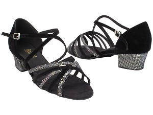1670C 322 Black Iridescent Diamond Velvet_S_H_136 Black Nubuck_S_B