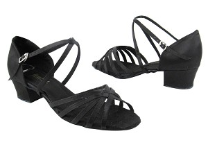 "1670C 83 Black Suede with 1.5"" medium heel in the photo"
