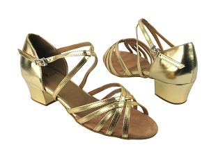 "1670C Gold Leather with 1.5"" heel in the photo"