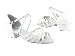 "1670C White Leather with 1.5"" medium heel in the photo"