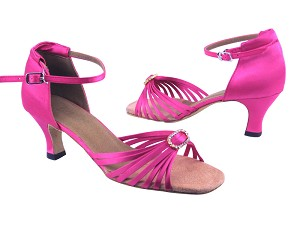 "1671B 246 Pink Satin with 2.5"" low heel in the photo"