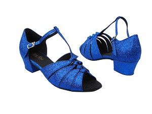 "1672 234 Blue Stardust with 1.5"" Medium Heel in the photo"
