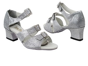 "1679 125 Silver Stardust with 2"" Thick Cuban heel in the photo"
