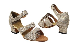 "1679 74 Gold Sparklenet_2_TC with 2"" Thick Cuban heel in the photo"