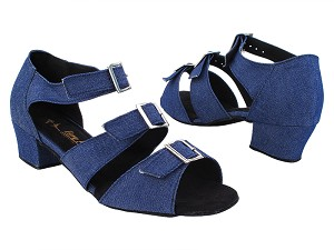 "1679LEDSS Dark Blue Jean with 1.5"" Heel in the photo"