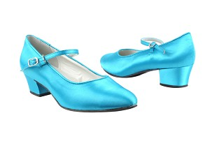 "1682 230 Light Blue Satin with 1.5"" Heel in the photo"