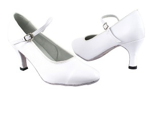 "1682_3008 White Leather with 2.75"" Heel in the photo"