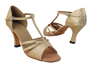 "1683 125 Gold Stardust with 6812_3"" Heel in the photo"