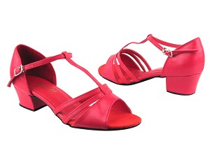 "1683 211 Red Leather with 1.5"" medium heel in the photo"