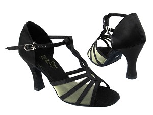 1692 Black Satin_Flesh Mesh