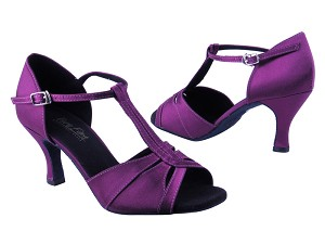 "1703 Purple Satin with 3"" heel in the photo"