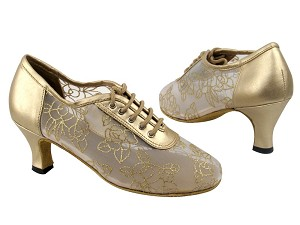 "2002 57 Light Gold Leather_79 Mesh with 2_5 inch heel with 2.5"" Low heel in the photo"