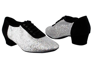 "2002 Black Nubuck_6 Silver Sparklenet_M with 1.5"" Heel in the photo"