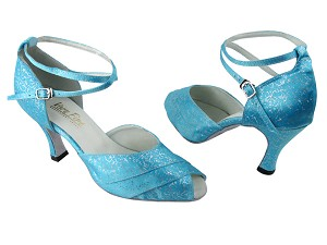 2701 104 Blue Flower Satin