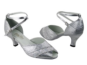 "2701 126 Silver Stardust & 141 White with 2.5"" Low Heel in the photo"