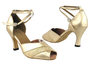 "2701 57 Light Gold Leather_173 Light Gold Scale Trim with 3"" Heel in the photo"