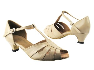 "2702 60 Tan Leather with 1.3"" Cuban heel in the photo"