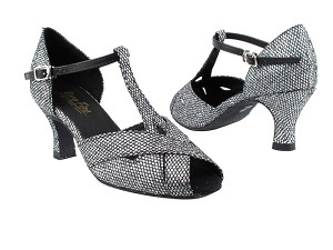 "2703 97 Black Sparklenet with 2.5"" Heel in the photo"