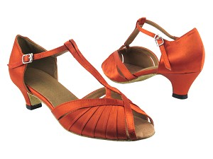 2707 182 Orange Tan Satin