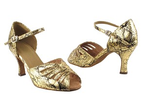 "2709 251 Gold Snake with 3"" Heel in the photo"