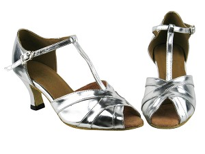 "2711 Silver Leather with 2.5"" Heel in the photo"