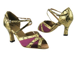 2712 111 Purple Satin_251 Gold Snake_1650 BackStrap