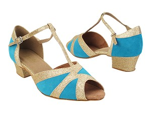 2712 282 Blue Suede_125 Gold Stardust Trim