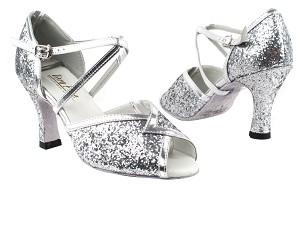 2721 7 Silver Sparkle_Silver Leather Trim