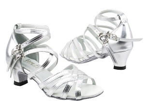 "5008G 151 Soft Silver PU with 1.3"" Cuban heel in the photo"