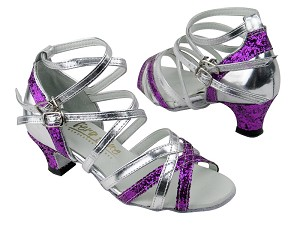 5008Mirage Purple Sparkle_Silver Leather