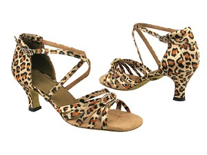 6005 #152 Leopard Satin & Stone & 1636 BackStrap