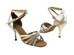 6005 180 White Gold Wave_B_57 Light Gold Leather_S_3in Slim Gold Plated Heel