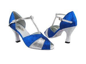 "6006 234 Blue Stardust_X_B_126 Silver Stardust_H with 3"" Heel in the photo"